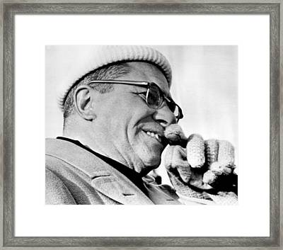 Vince Lombardi Close Up Framed Print by Retro Images Archive