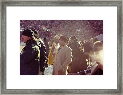 Vince Lombardi From Sidelines Framed Print