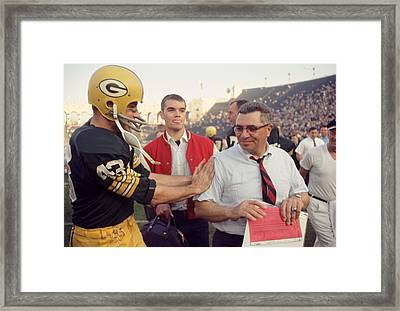 Vince Lombardi Congratulated Framed Print by Retro Images Archive
