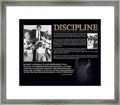 Vince Lombardi Discipline Framed Print by Retro Images Archive