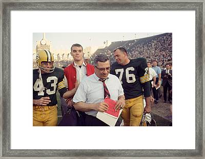 Great Vince Lombardi  Framed Print by Retro Images Archive