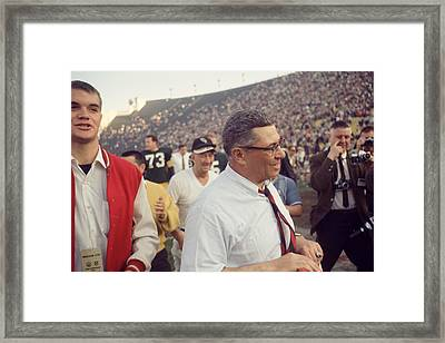 Vince Lombardi  Framed Print by Retro Images Archive
