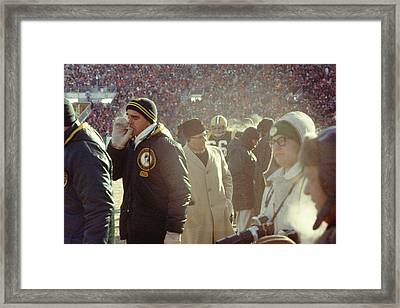 Vince Lombardi On The Sideline Framed Print by Retro Images Archive