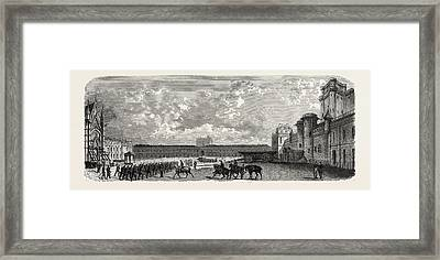 Vincennes. Castle Courtyard From The South Framed Print by Litz Collection