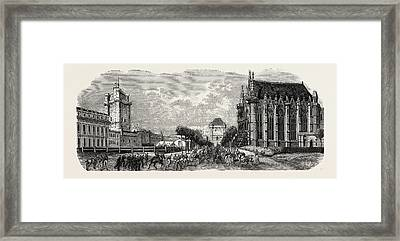 Vincennes Castle Courtyard Framed Print by Litz Collection