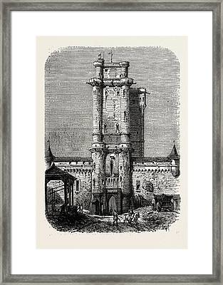 Vincennes, Entrance To The Fort Framed Print by Litz Collection