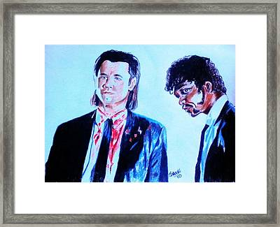 Vincent And Jules Framed Print by Jeremy Moore