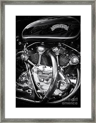 Vincent Engine Framed Print by Tim Gainey