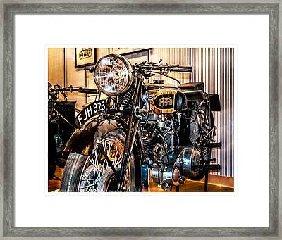 Framed Print featuring the photograph Vincent Hrd by Steve Benefiel