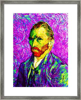 Vincent Revisited 20140118v2 Framed Print by Wingsdomain Art and Photography
