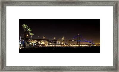 Vincent Thomas Bridge Framed Print by April Reppucci