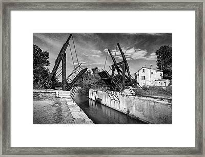 Framed Print featuring the photograph Vincent Van Gogh Bridge by Richard Wiggins