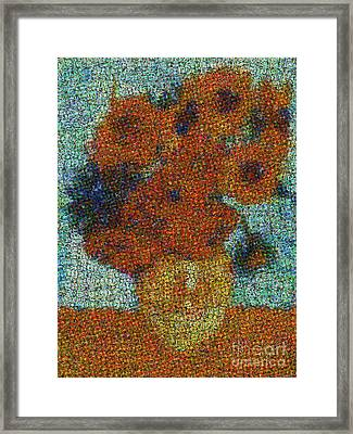 Vincent Van Gogh Sunflowers 2.0 - V2 Framed Print by Edward Fielding