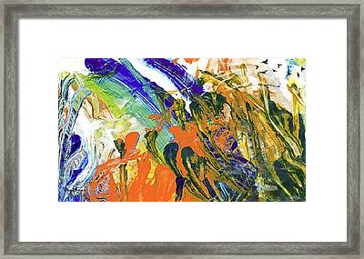 Framed Print featuring the painting Vincent's Birds by Ron Richard Baviello