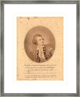 Vincenzo Lunardi,  Nesmith, Pinxt.  Burke Framed Print by English School