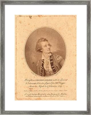 Vincenzo Lunardi,  Nesmith, Pinxt.  Burke Framed Print by Litz Collection