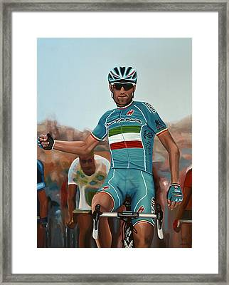 Vincenzo Nibali Painting Framed Print by Paul Meijering
