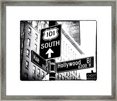 Vine And Hollywood Framed Print by John Rizzuto