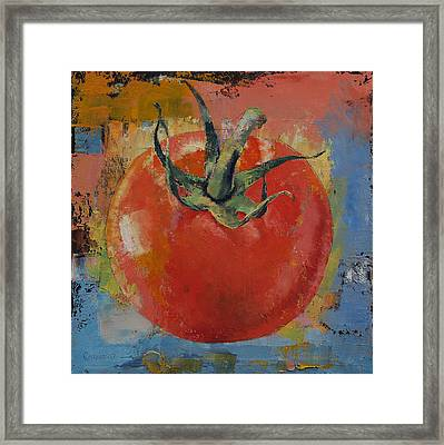 Vine Tomato Framed Print by Michael Creese