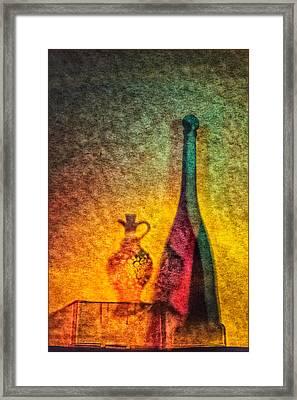 Vinegar And Oil Framed Print