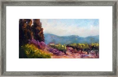 Vines Framed Print by Carolyn Jarvis