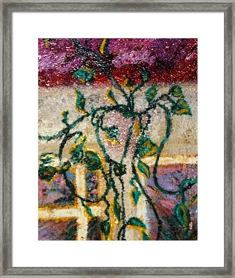Framed Print featuring the painting Vines In Venice Beach by Leslie Byrne