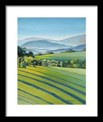 Green Fields Framed Prints