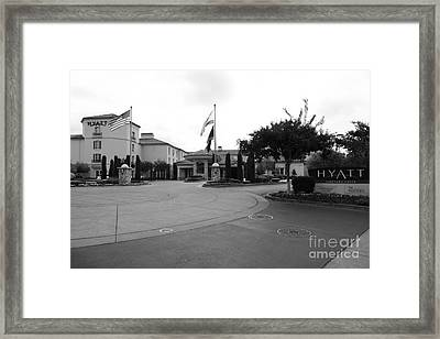 Vineyard Creek Hyatt Hotel Santa Rosa California 5d25789 Bw Framed Print
