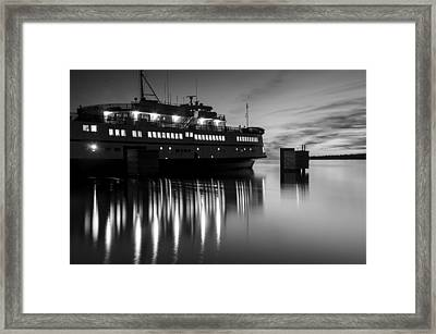 Vineyard Ferry Framed Print