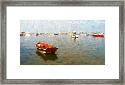 Vineyard Haven Harbor Framed Print by Michael Petrizzo