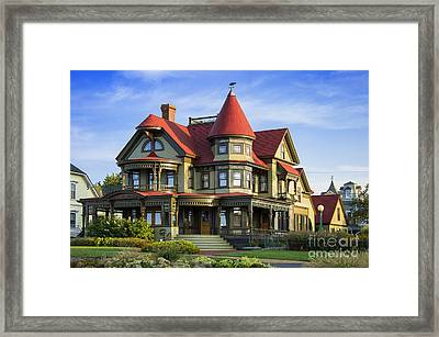 Vineyard Home Framed Print by John Greim