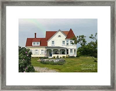 Vineyard Home Framed Print by Michelle Wiarda