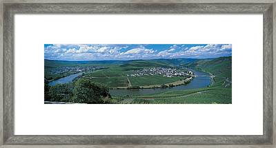 Vineyard Moselle River Germany Framed Print by Panoramic Images