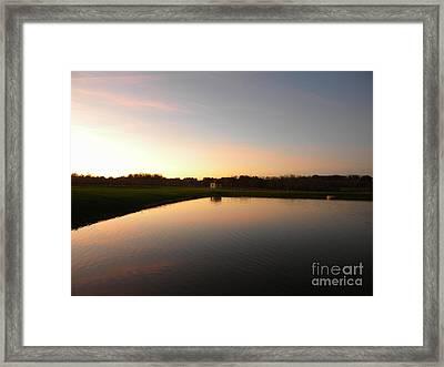 Vineyard Reflections Framed Print by Jaclyn Hughes Fine Art