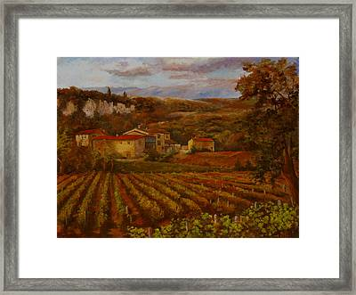 Framed Print featuring the painting Vineyard by Rick Fitzsimons
