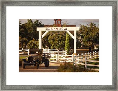 Vineyard Trucking Framed Print