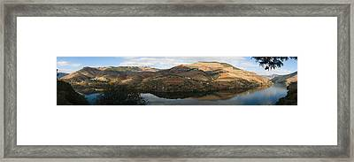 Vineyards At The Riverside, Cima Corgo Framed Print by Panoramic Images