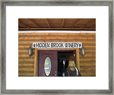 Vineyards In Va - 121210 Framed Print by DC Photographer