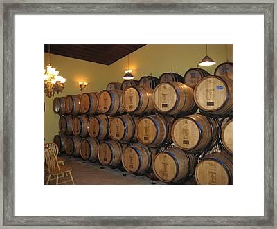 Vineyards In Va - 121237 Framed Print by DC Photographer