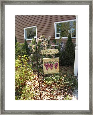 Vineyards In Va - 121260 Framed Print by DC Photographer