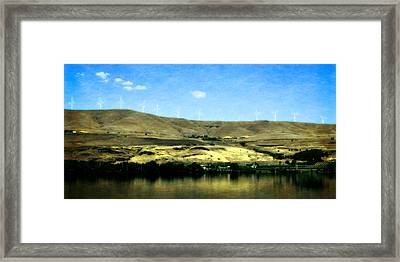 Vineyards On The Columbia River Framed Print by Michelle Calkins