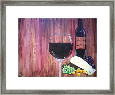 Vino Framed Print by Abigail Avila