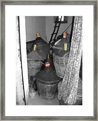 Framed Print featuring the photograph Vino Chianti by Victoria Lakes