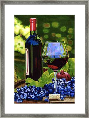 Vino Framed Print by Cory Still