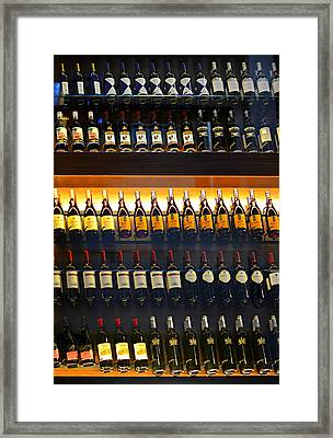 Vino Framed Print by Laura Fasulo