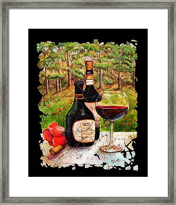 Vino Framed Print by Art OLena