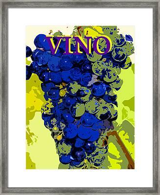 Vino Spc Work Purple Framed Print