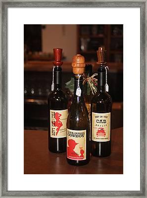 Vino Framed Print by Valerie Loop