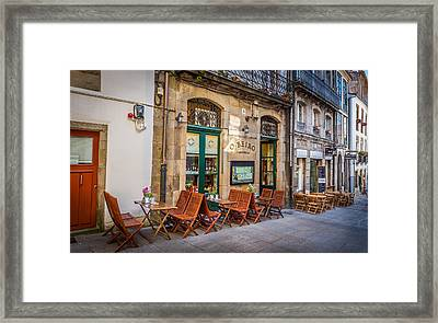 Framed Print featuring the photograph Vinoteca by Gary Gillette