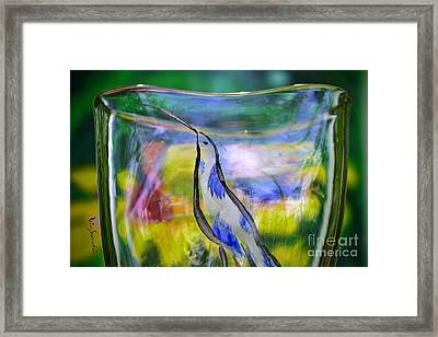 Vinsanchi Glass Art-1 Framed Print by Vin Kitayama